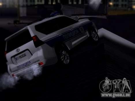Toyota Land Cruiser POLICE pour GTA San Andreas sur la vue arrière gauche
