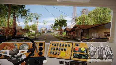 International 4700 pour GTA San Andreas vue intérieure