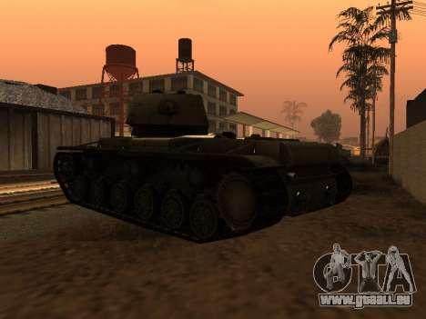 KV-1 pour GTA San Andreas sur la vue arrière gauche
