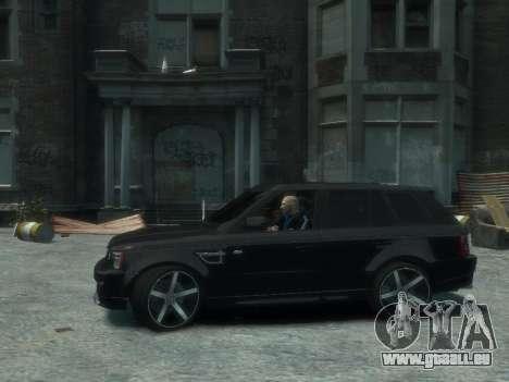 Range Rover Sport 2013 pour GTA 4 Vue arrière