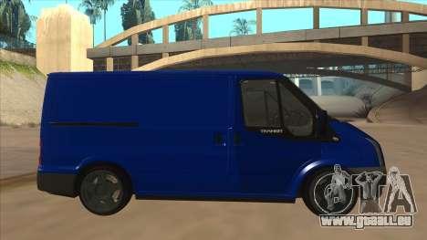 Ford Transit Swb 2011 Stance für GTA San Andreas zurück linke Ansicht
