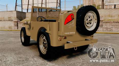 Willys MB pour GTA 4 Vue arrière de la gauche