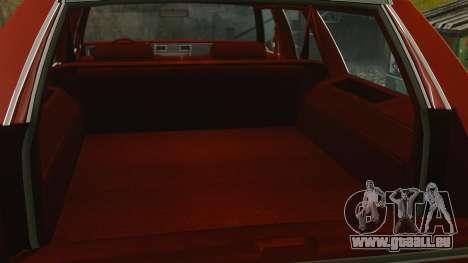 Chevrolet Caprice Wagon 1989 pour GTA 4 est une vue de l'intérieur
