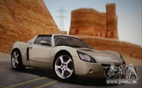 Opel Speedster Turbo 2004 pour GTA San Andreas sur la vue arrière gauche