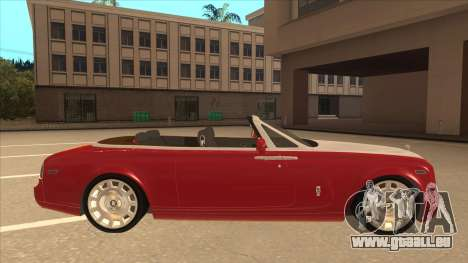 Rolls Royce Phantom Drophead Coupe 2013 pour GTA San Andreas sur la vue arrière gauche