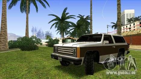 Rancher Bronco für GTA San Andreas linke Ansicht