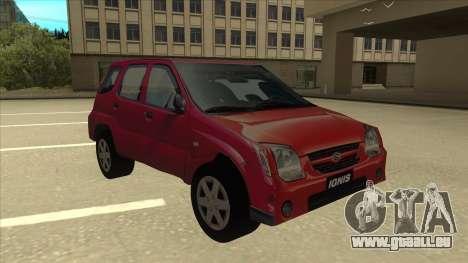 Suzuki Ignis pour GTA San Andreas laissé vue