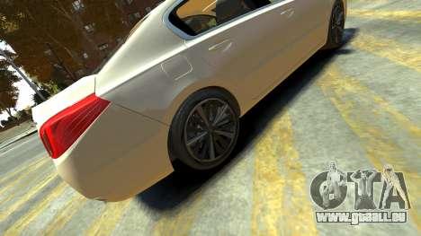 Peugeot 408 GT pour GTA 4 Vue arrière de la gauche