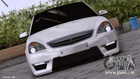Lada Priora AMG Version pour GTA San Andreas laissé vue