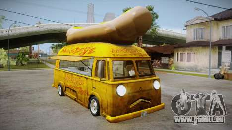 Hot Dog Van Custom pour GTA San Andreas vue intérieure