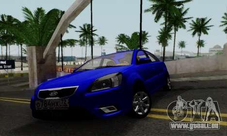 Kia Rio pour GTA San Andreas sur la vue arrière gauche
