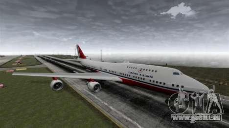 Das Flugzeug der Turkish Airlines für GTA 4 rechte Ansicht