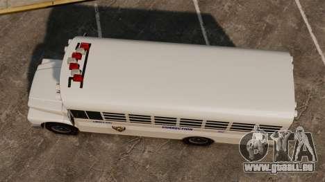 Der Gefängnis-Bus Liberty City für GTA 4 rechte Ansicht