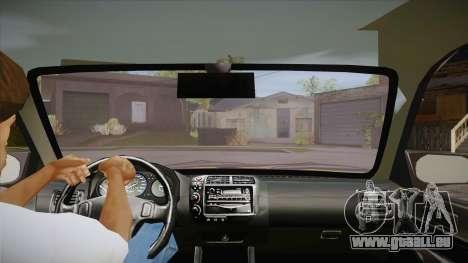 Honda Civic 1998 Tuned pour GTA San Andreas vue intérieure