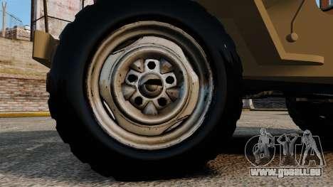 Willys MB pour GTA 4 Vue arrière