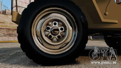 Willys MB für GTA 4 Rückansicht