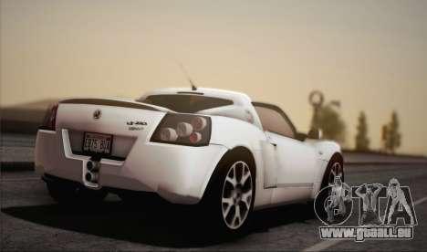 Vauxhall VX220 Turbo 2004 pour GTA San Andreas laissé vue