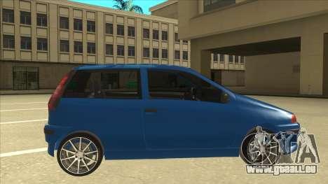 Fiat Punto MK1 Tuning pour GTA San Andreas sur la vue arrière gauche