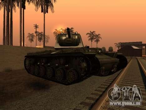 KV-1 pour GTA San Andreas vue de droite