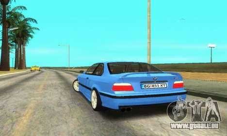 BMW M3 (E36) pour GTA San Andreas sur la vue arrière gauche