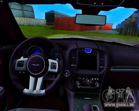 Chrysler 300 c SRT-8 MANSORY_CLUB pour GTA San Andreas vue de dessus