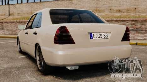 Mercedes-Benz C63 AMG pour GTA 4 Vue arrière de la gauche