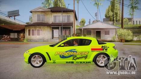 Mazda RX8 Tunnable pour GTA San Andreas laissé vue