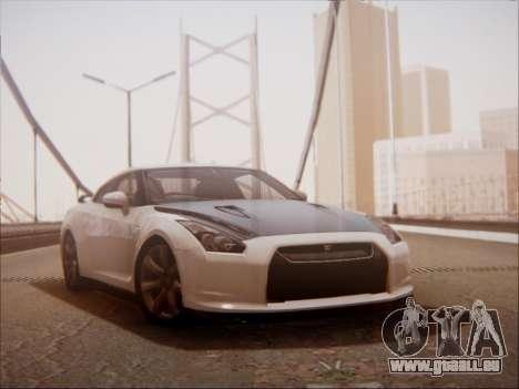 Nissan GT-R R35 Spec V 2010 pour GTA San Andreas laissé vue