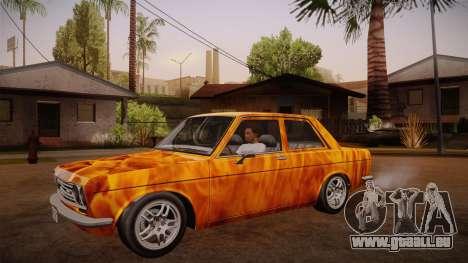 Datsun 510 RB26DETT Black Revel pour GTA San Andreas vue de côté