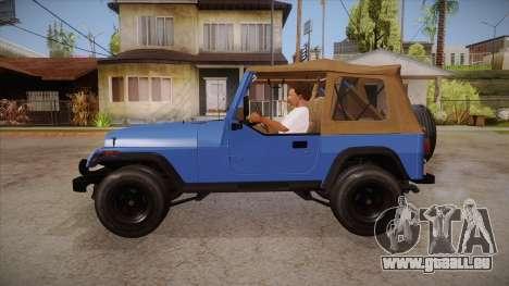 Jeep Wrangler V10 TT Black Revel pour GTA San Andreas laissé vue