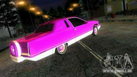 Cadillac Fleetwood Coupe pour GTA Vice City vue latérale