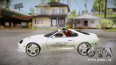 Toyota Supra TwinTurbo FNF 1997 pour GTA San Andreas laissé vue