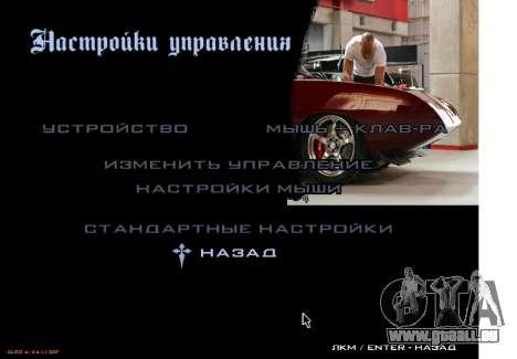 Le menu principal furieux 6 pour GTA San Andreas deuxième écran