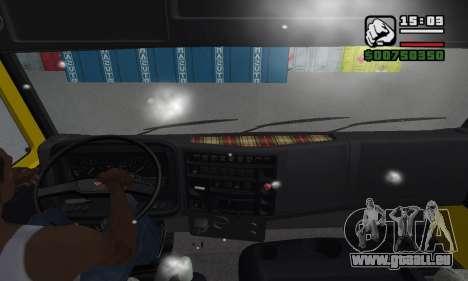KAMAZ 65116 pour GTA San Andreas vue de dessous