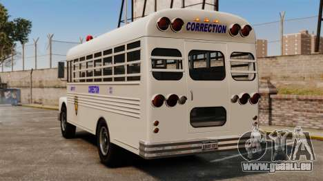 Der Gefängnis-Bus Liberty City für GTA 4 hinten links Ansicht