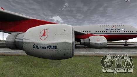 Das Flugzeug der Turkish Airlines für GTA 4 Rückansicht