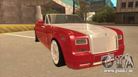 Rolls Royce Phantom Drophead Coupe 2013 pour GTA San Andreas laissé vue