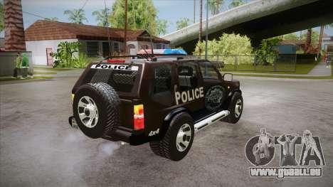 Nissan Terrano RB26DETT Police pour GTA San Andreas vue de droite