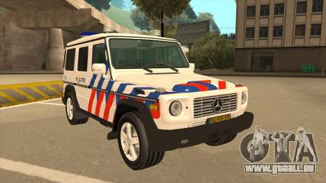 European Emergency Mercedes-Benz G 2008 pour GTA San Andreas laissé vue