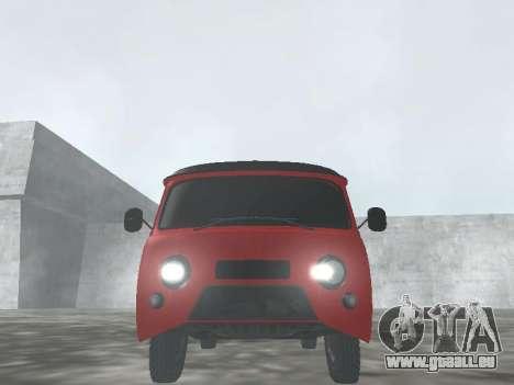UAZ 22069 pour GTA San Andreas vue arrière