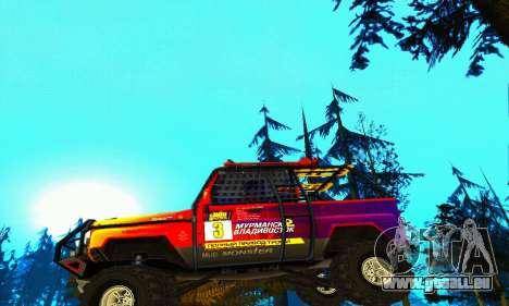 UAZ Hunter Trial pour GTA San Andreas vue de dessous