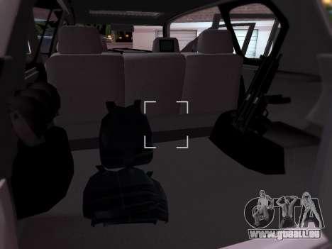 Toyota Land Cruiser POLICE pour GTA San Andreas vue intérieure