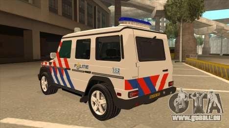 European Emergency Mercedes-Benz G 2008 pour GTA San Andreas vue arrière