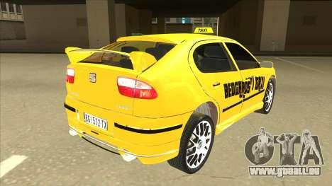 Seat Leon Belgrade Taxi pour GTA San Andreas vue de droite