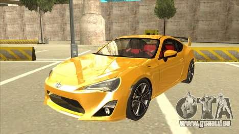 TOYOTA GT86 2JZ-GTE Black Revel für GTA San Andreas