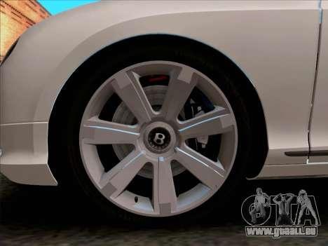Bentley Continental GT Finale 2011 pour GTA San Andreas vue intérieure