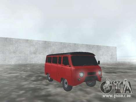 UAZ 22069 pour GTA San Andreas vue intérieure