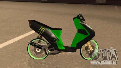 Yamaha Mio Soul 2 Monster Energy für GTA San Andreas linke Ansicht