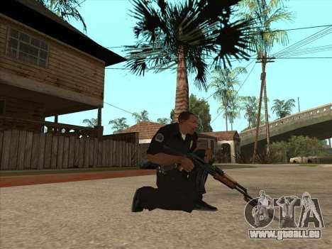 AKMS avec baïonnette-couteau pour GTA San Andreas deuxième écran