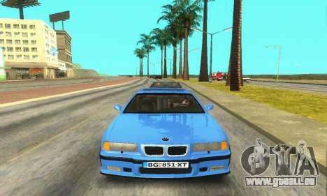BMW M3 (E36) pour GTA San Andreas vue intérieure